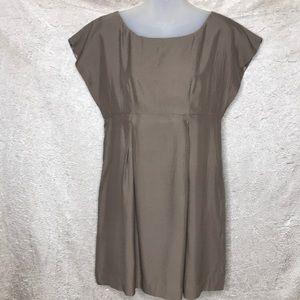Tse Say Light Brown Silk Tunic Dress Size 2